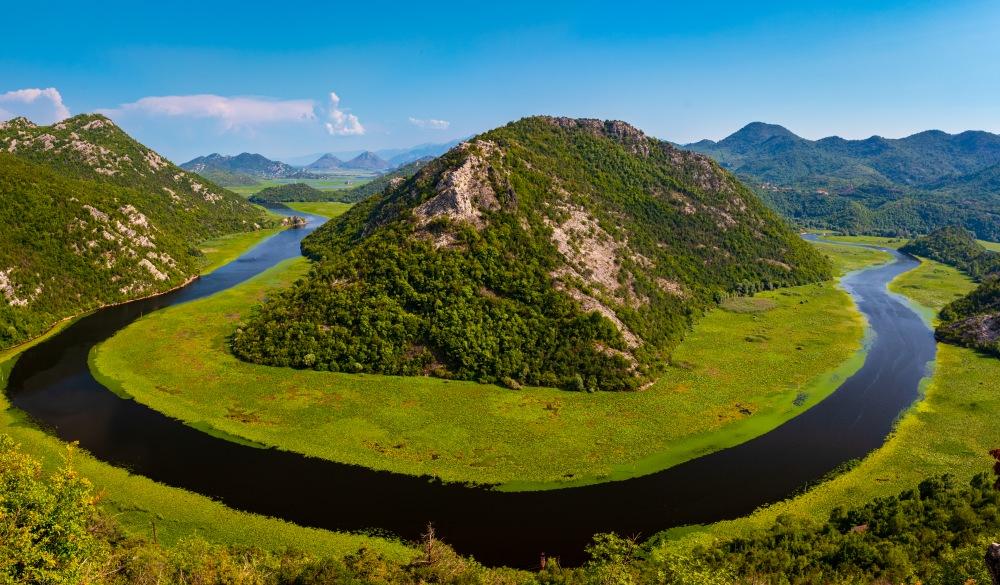 Panorama of Lake Skadar National Park, Montenegro, best lake getaways