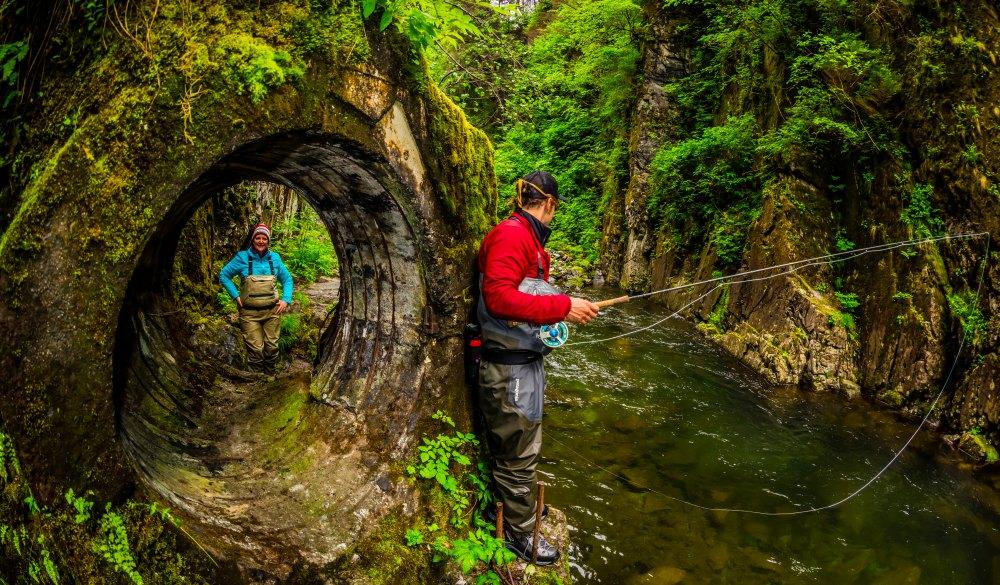 Flyfishing guide from Sitka Alaska Outfitters fishing Sawmill Creek, near Sitka, Alaska USA., best of Alaska