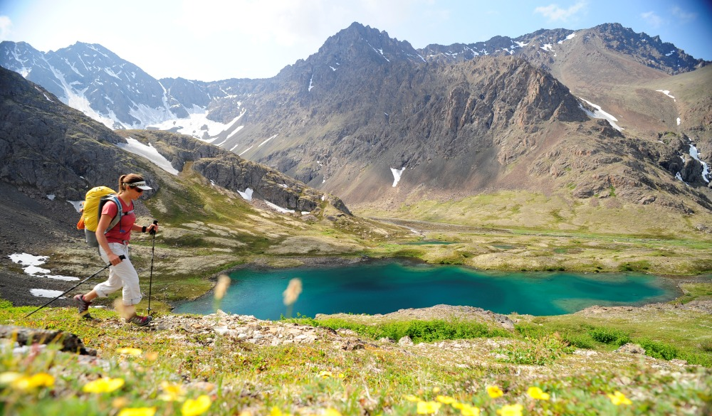 hiking in Chugach State Park near Anchorage, best of alaska