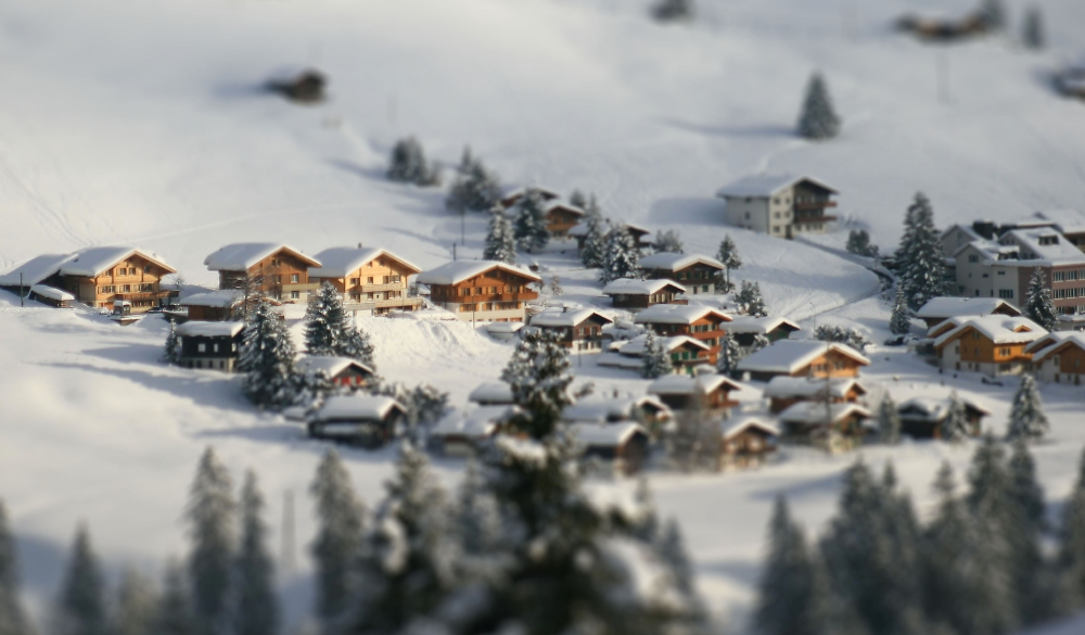 Adelboden chalets in winter