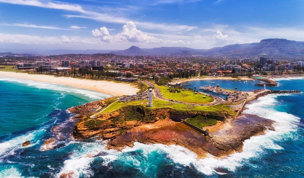 Headland of Wollongong city on Pacific coast