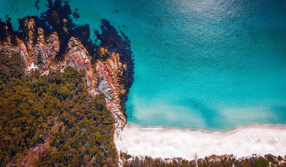 The Bay of fires, aerial view