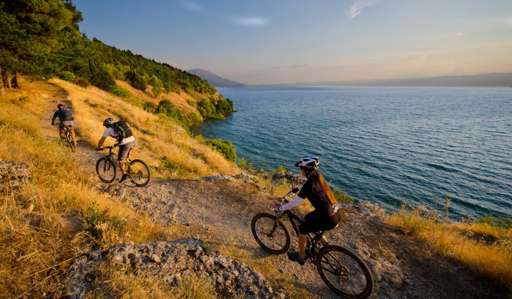 Mountain Biking over lake Ohrid, best lake getaways