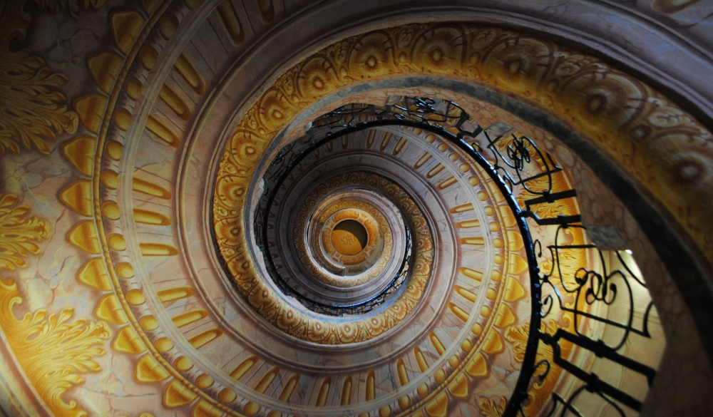 spiral staircase in the abbey of Melk.