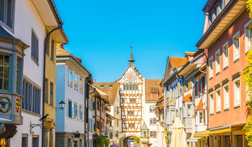 Medieval old town of Schaffhausen, Switzerland