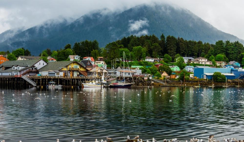 The harbor in Sitka, southeast Alaska USA.