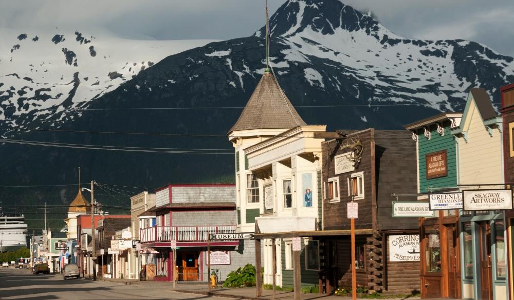 Historic false-front buildings, best of Alaska