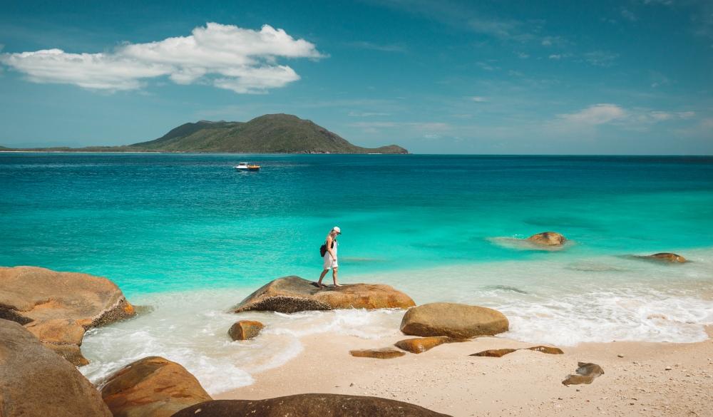 Nudey beach on Fitzroy island near Cairns, iconic australian road trip destination