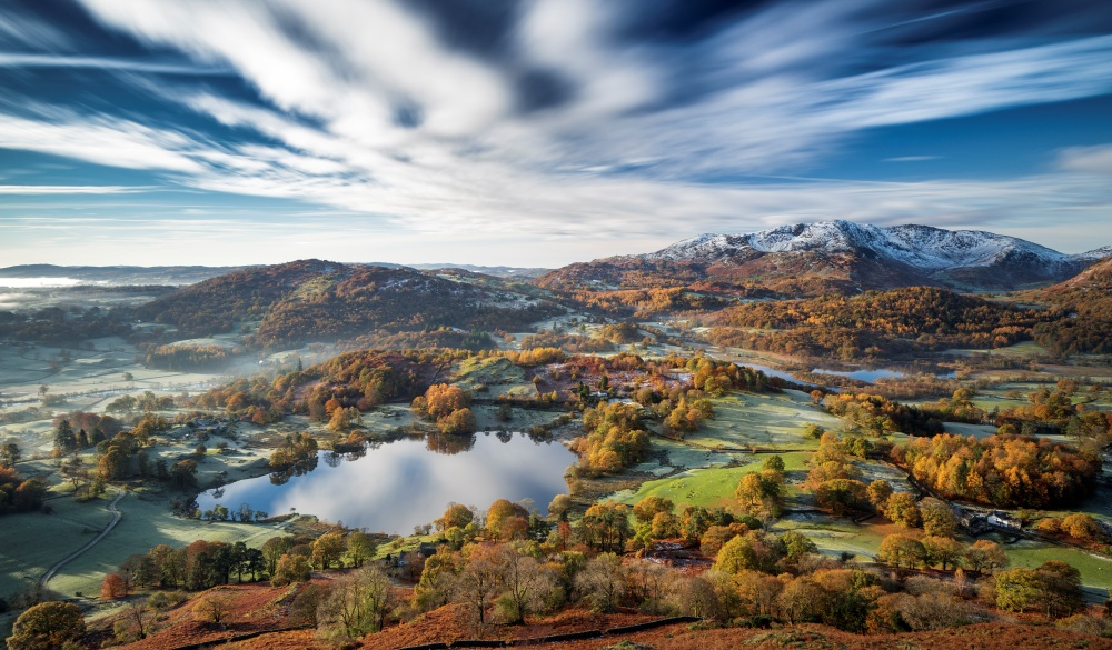 Loughrigg timeless. A stunning long exposure of a clissic English Lake District scene. UK, best lake getaways