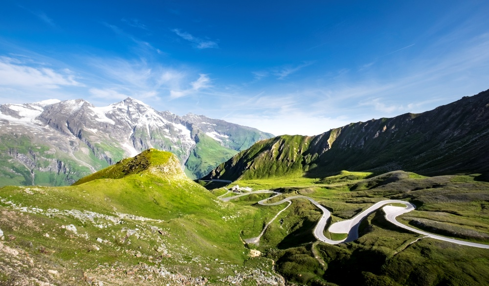 Grossglockner high alpine road. destinations for road trips in austria