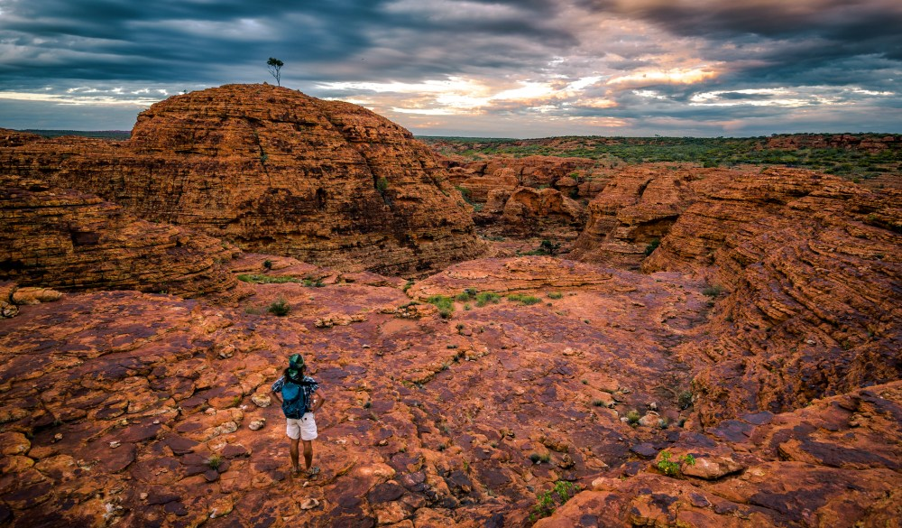Maze of weathered sandstone domes at Watarrka National Park
