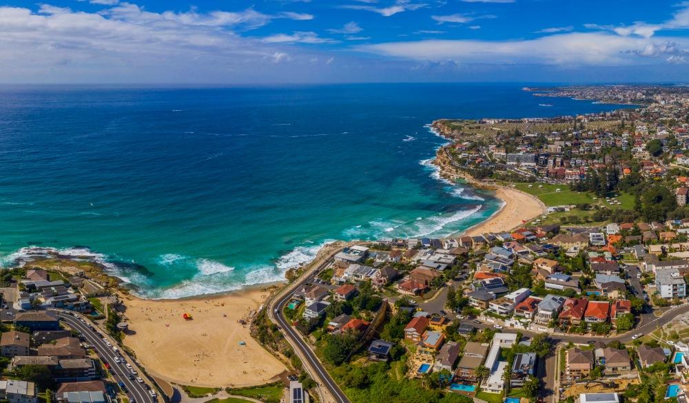 Eastern Suburbs coastline Sydney Australia