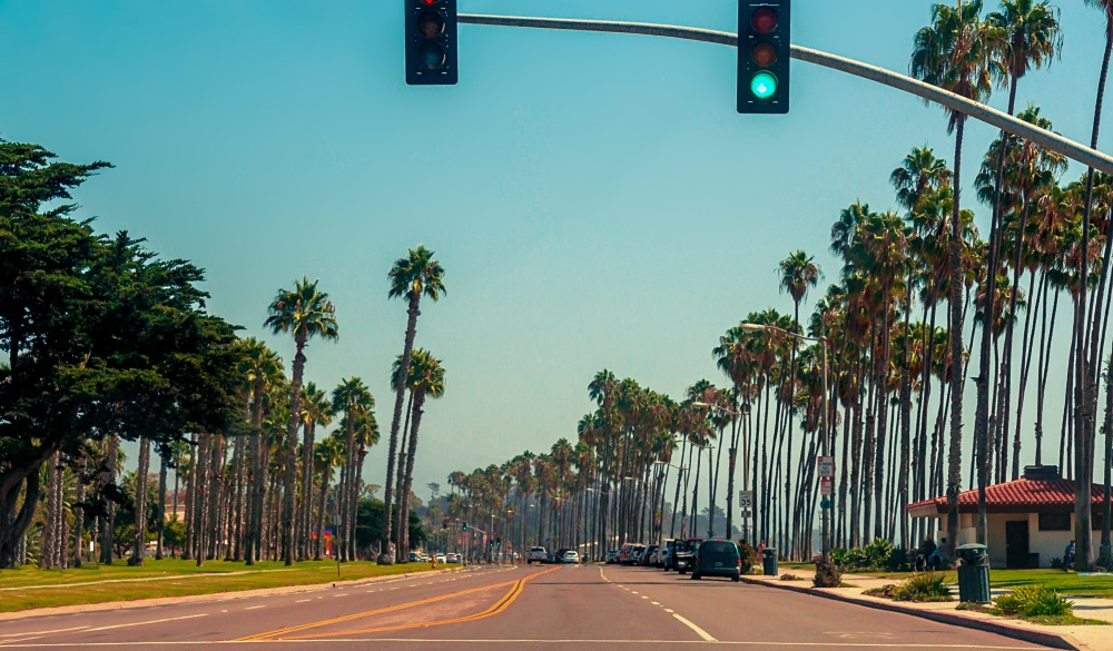 Highway #1 in Santa Barbara, California