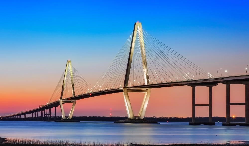 Cooper River Bridge in Charleston SC