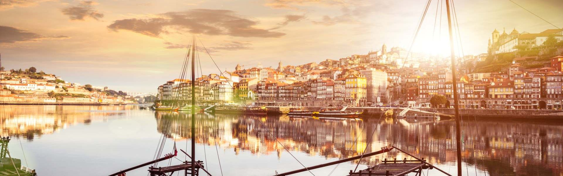 Oporto view from the the Douro river