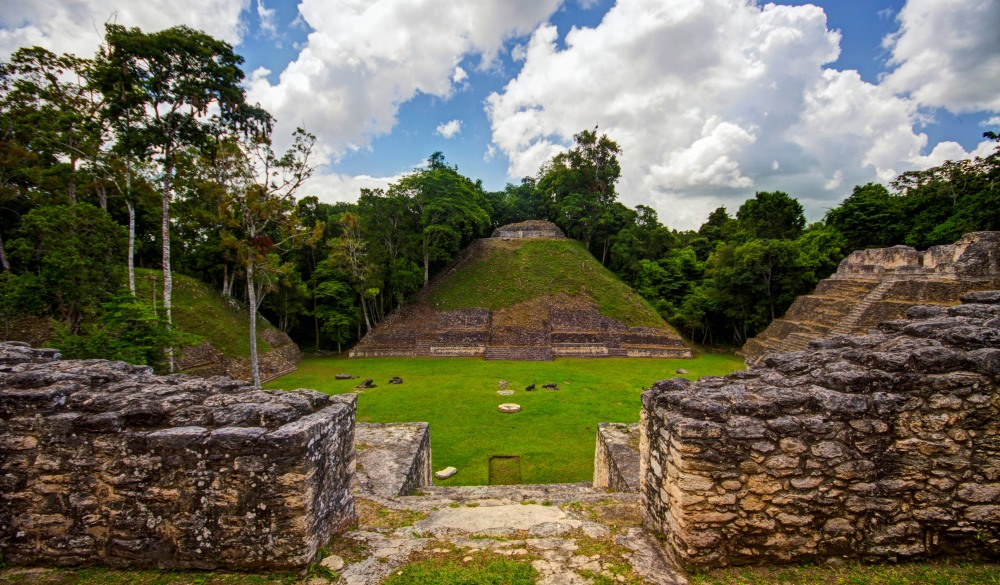 Mayan site of Caracol Pyramids in Plaza, Mayan sites to visit