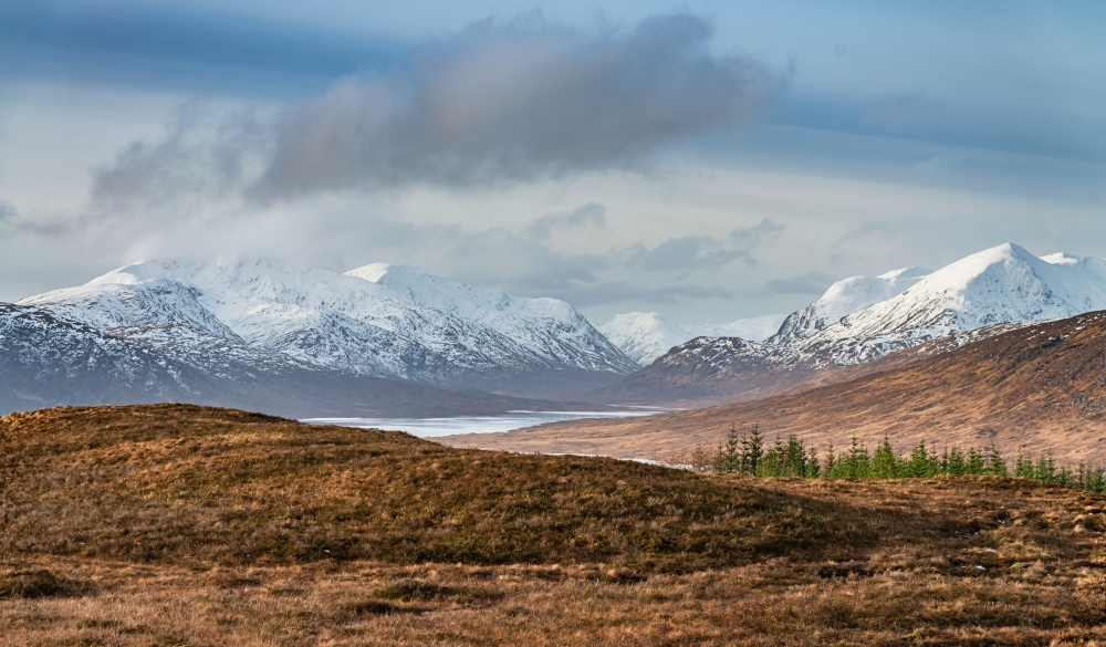 Loch Loyne Snowcapped Mountains Scottish Highlands Winter Scotland, scottish highlands destinations