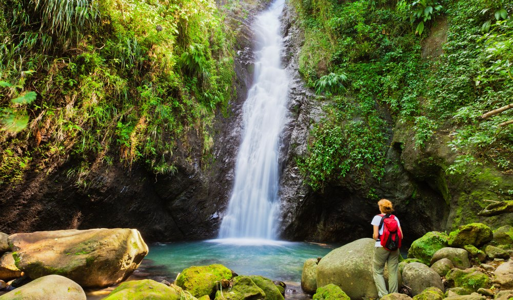 Au Coin Falls, Grenada W.I., destination for a crowd-free vacation