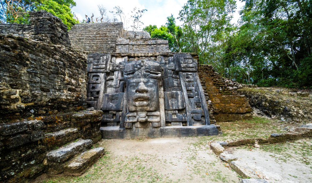 Central America, Belize, Yucatan peninsula, New River, Lamanai, Maya ruin, Lamanai Mask Temple, Mayan sites to visit