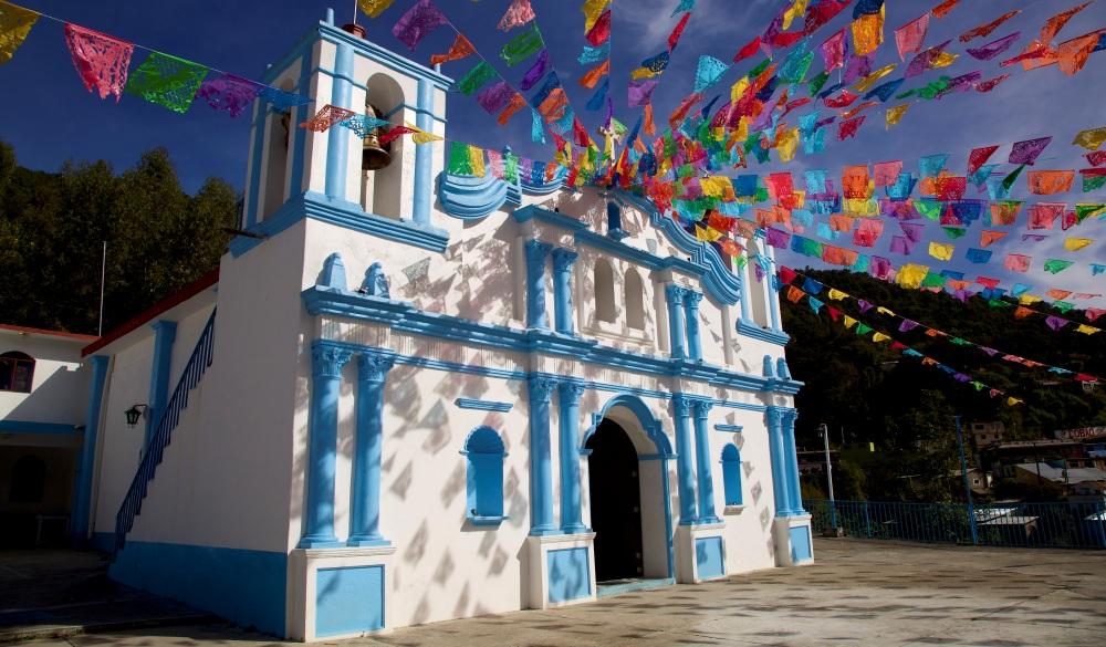 Church in Sierra Norte, Oaxaca, Mexico