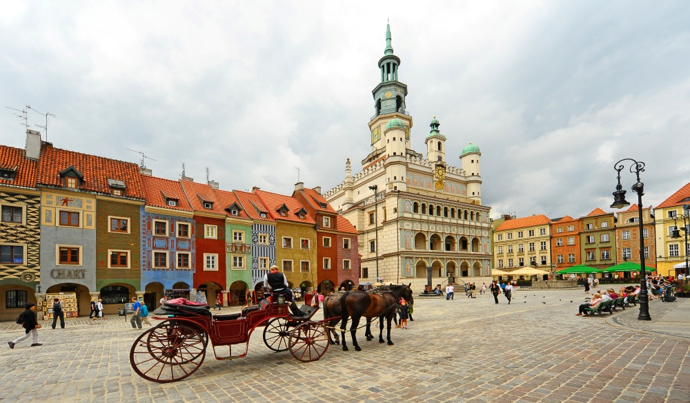 Poznan town centre, destination for a weekend getaways in europe
