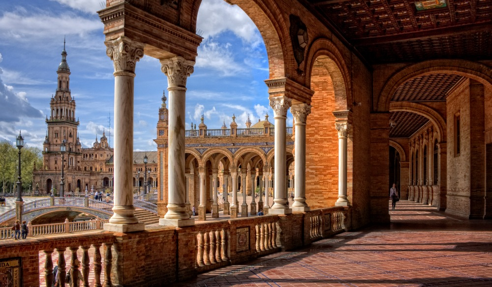 Plaza de España in Seville city, destination for a weekend getaways in europe