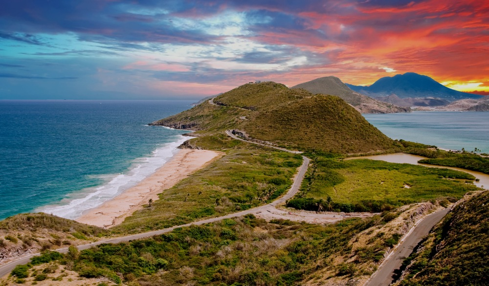 St Kitts between caribbean and atlantic, destination for a crowd-free vacation