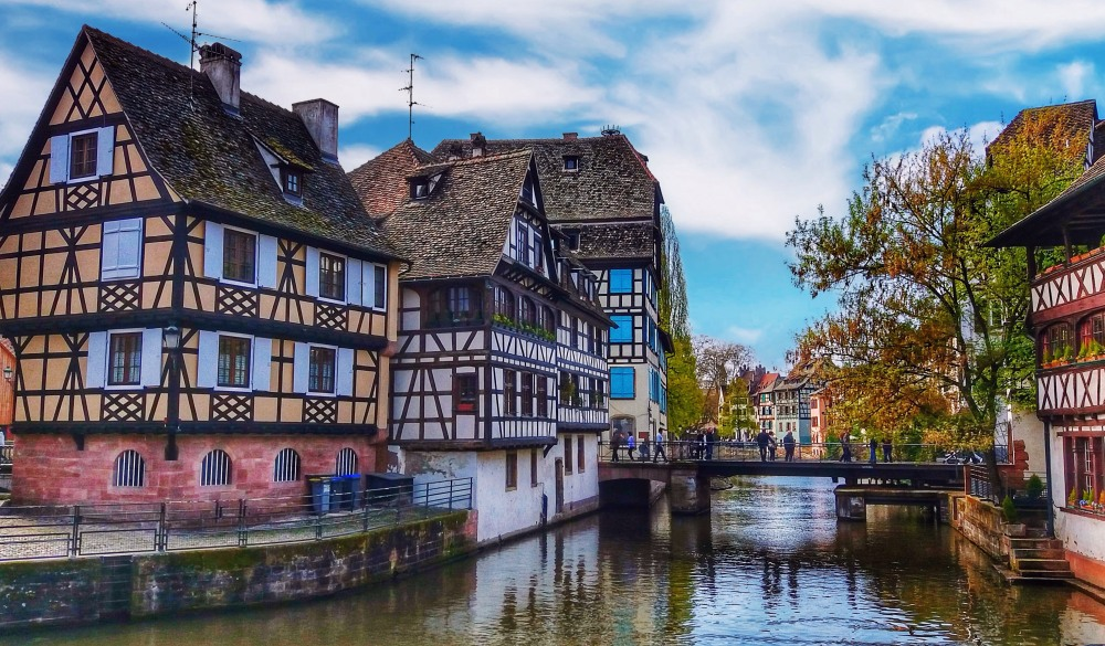 Strasbourg, canals and building, destination for a weekend getaways in europe