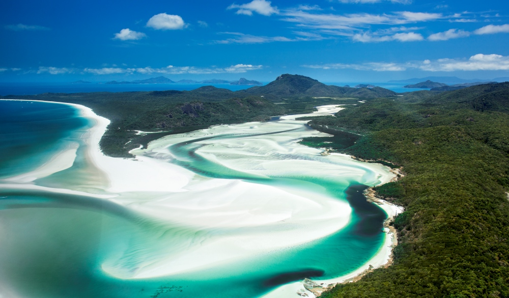 Whitsunday Islands Areal Shot