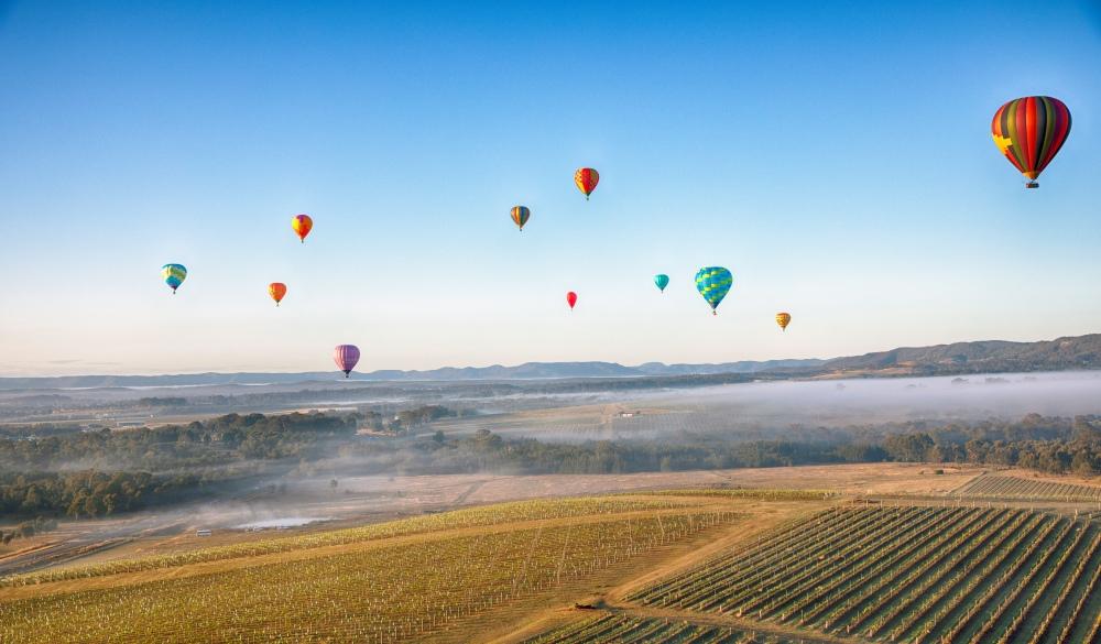 Ballooning over the Hunter Valley, romantic destinations in Australia
