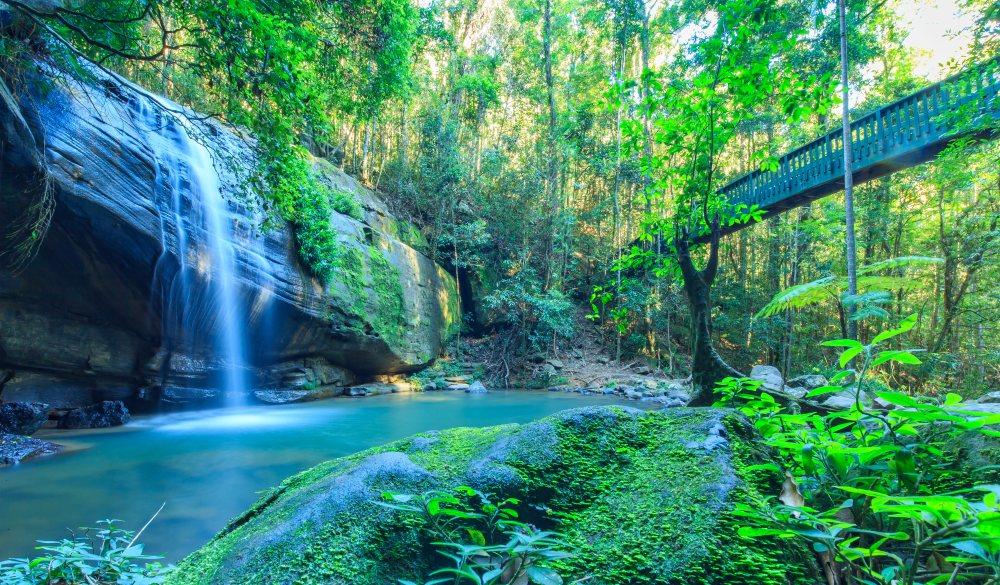 Tranquil Waterfall on the Sunshine Coast, Australia, romantic destinations in Australia