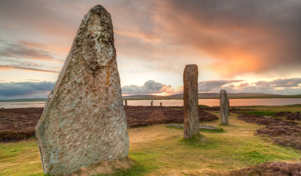 Ring of Brodgar ancient stones, Orkney, scottish highlands road trip destinations