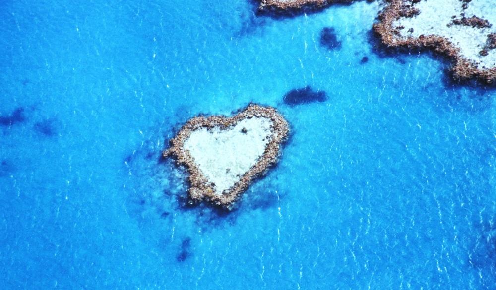 Great Barrier Reef, Heart Reef, romantic destinations in Australia