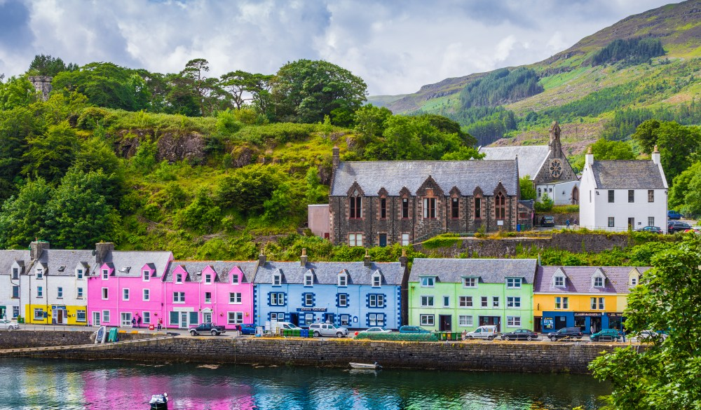 The City Portree In The Scottish Highlands
