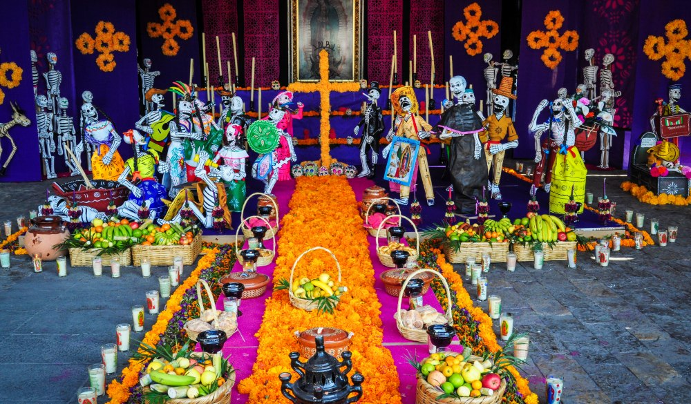 México City: A Day of the Dead Altar at the Basilica of the Virgin Guadalupe