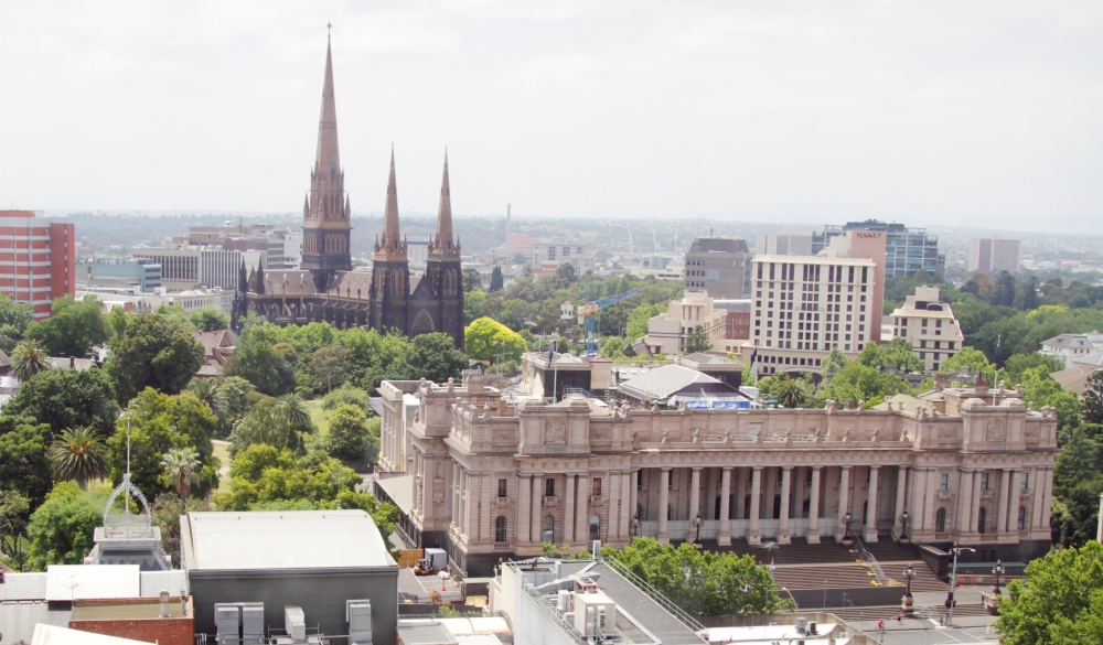 The view of East Melbourne.