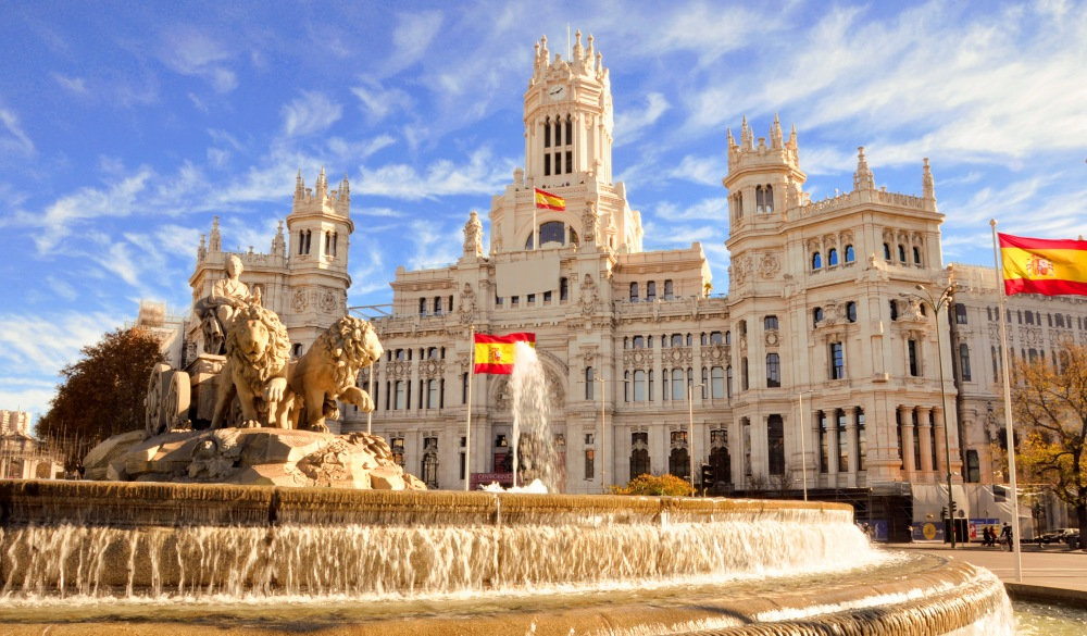 Cibeles fountain in Madrid,