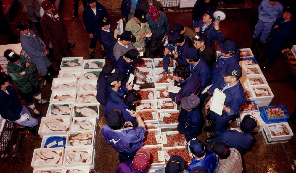 Fish market, Sapporo, Hokkaido, Japan