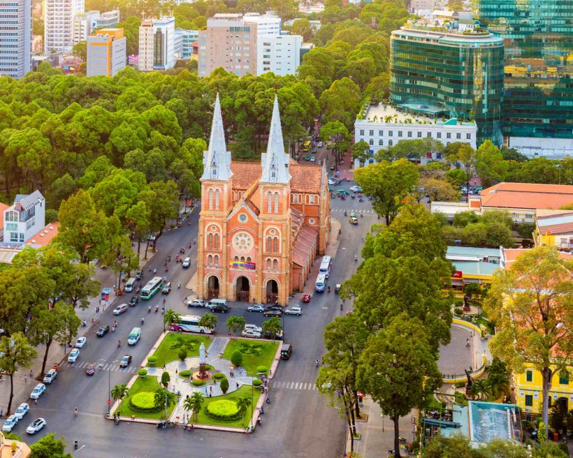 Notre Dame Cathedral in Ho Chi Minh City, Vietnam