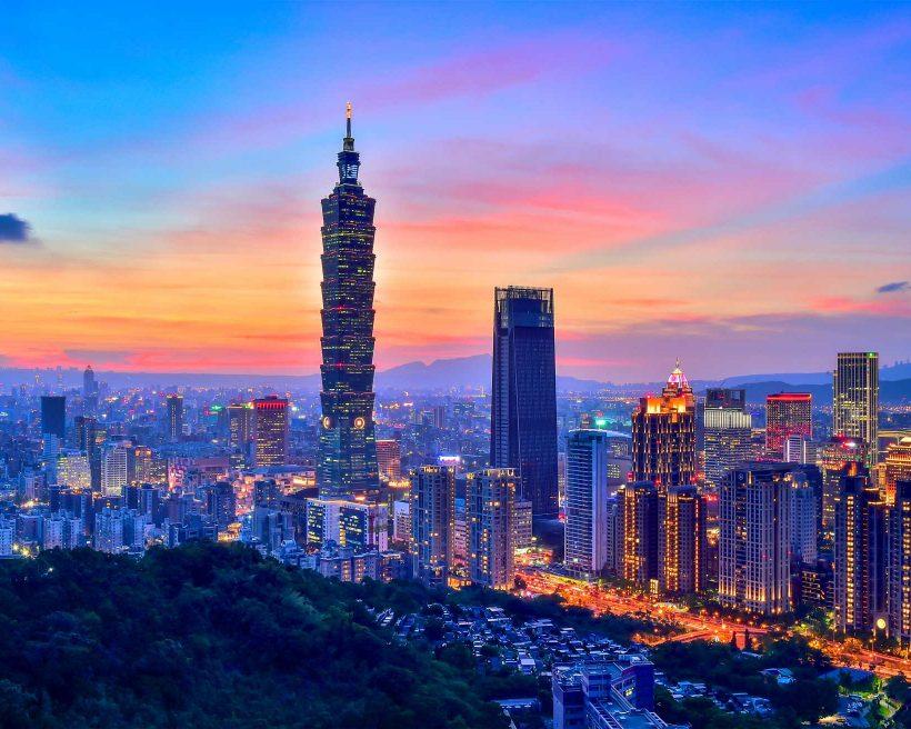 Sunset of Taipei