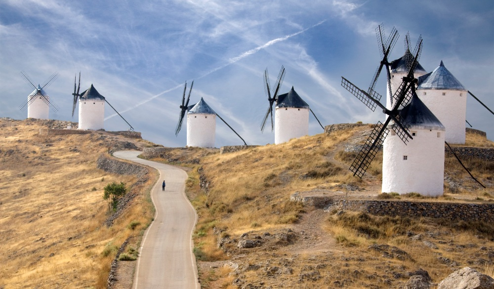 Windmills of La Mancha, Spain, destination for spain road trip