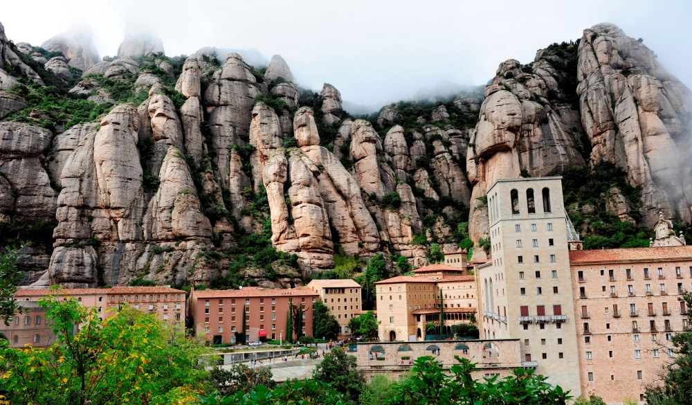 Monserrat Monastery, destination for spain road trip