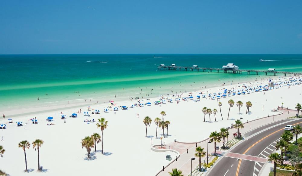 Beach scene, Clearwater, Florida