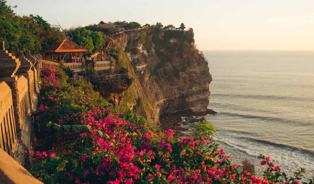 bali temple cliff
