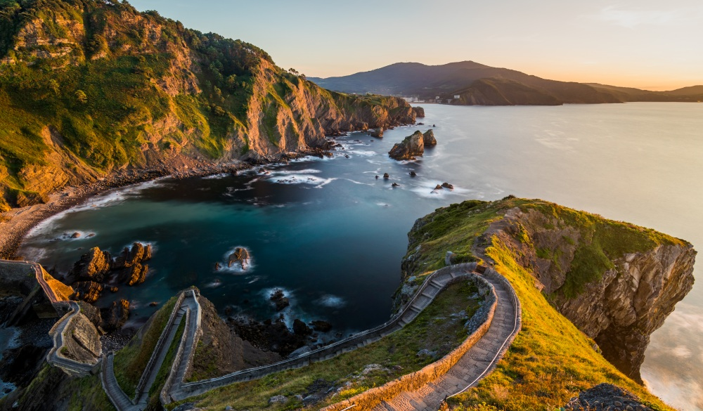 Path to San Juan de Gaztelugatxe, Basque Country, Spain, destination for spain road trip