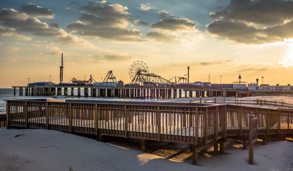 Atlantic City Boardwalk Sunset
