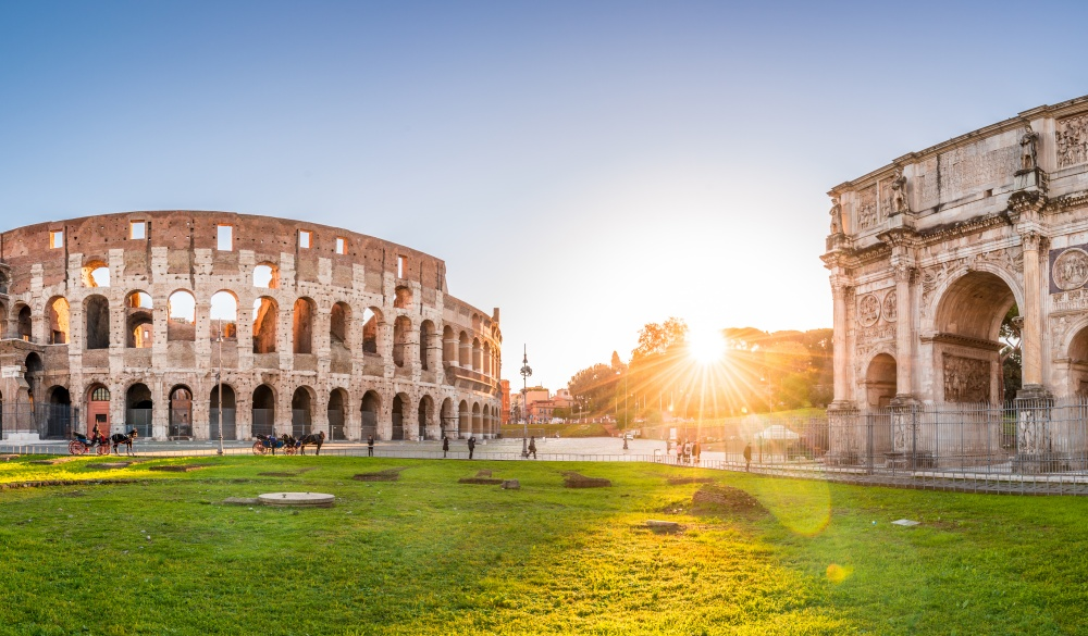 Panorama of Colosseum and Constantine arch