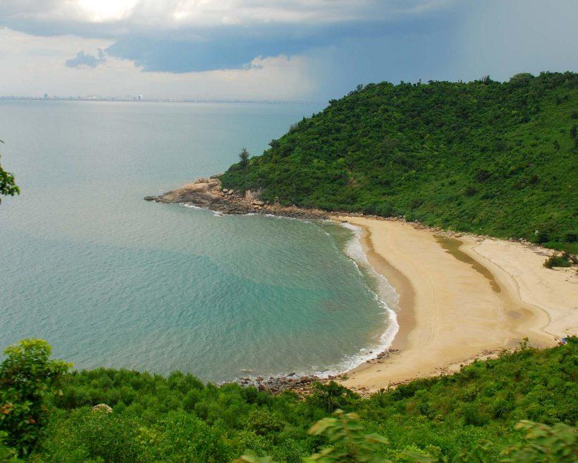 Secluded beach in Vietnam north of Da Nang