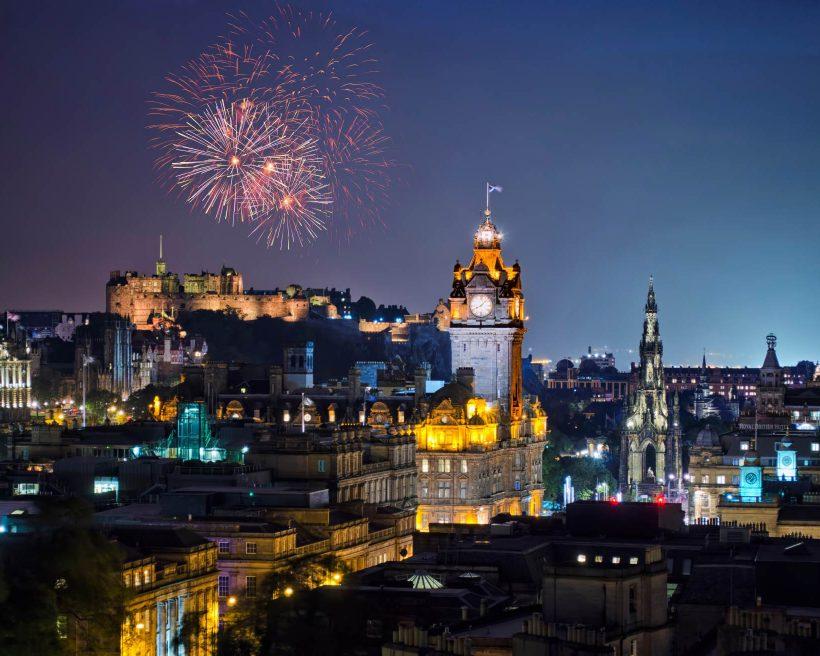 Fireworks Over Edinburgh City